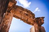 The ruins of a Roman-era arch in Jerash, Jordan