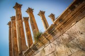 The columns of the Roman-era Temple of Artemis