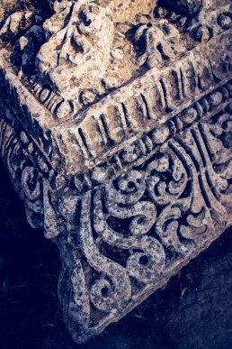 Details of an column at Jerash
