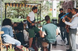 A local band covers popular Arabic and English music
